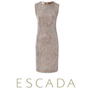 NWT ESCADA Stretchy Metallic Dali Dress